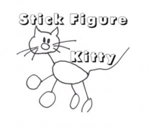 Stick Figure Kitty